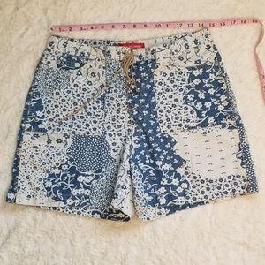 Gloria vanderbilt floral patchwork shorts